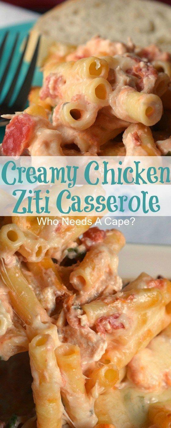 Creamy Chicken Ziti Casserole Recipe