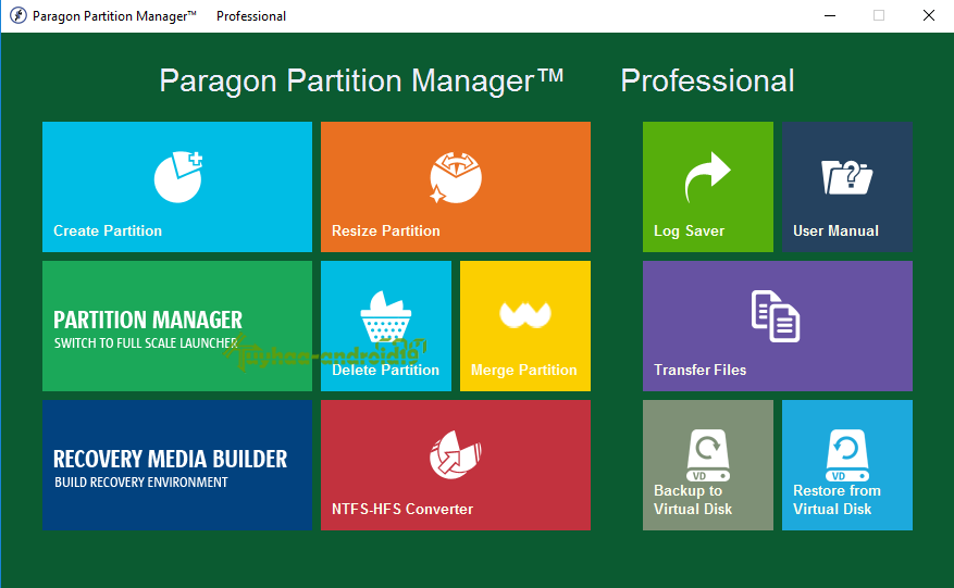 Paragon partition manager key generator