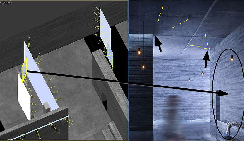 Recreating Peter Zumthor's Therme Vals With Corona for 3ds