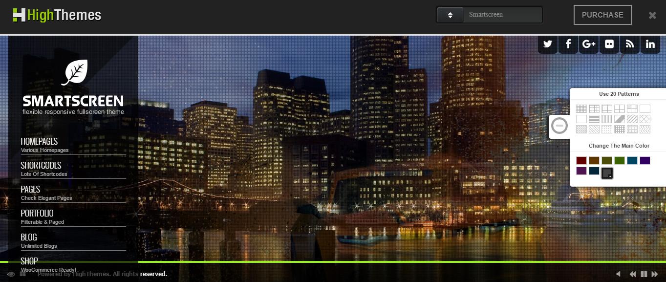 SmartScreen wordpress premium photography theme
