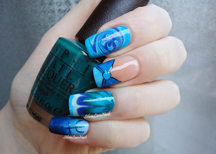 Sailor Moon collab manicure: Sailor Neptune