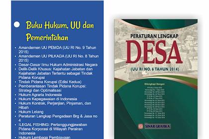 Buku Hukum, Undang-undang dan Pemerintahan Untuk Perpustakaan Desa