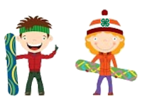 clipart of kids with snowboards