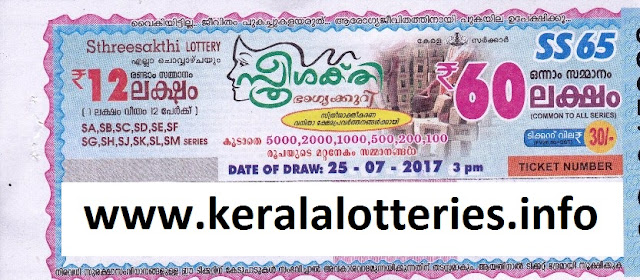 Kerala Lottery Result_Sthree Sakthi (SS-65)