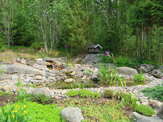 Fra dammen som Vidar har laget. Hos Signe Kari og Vidar.