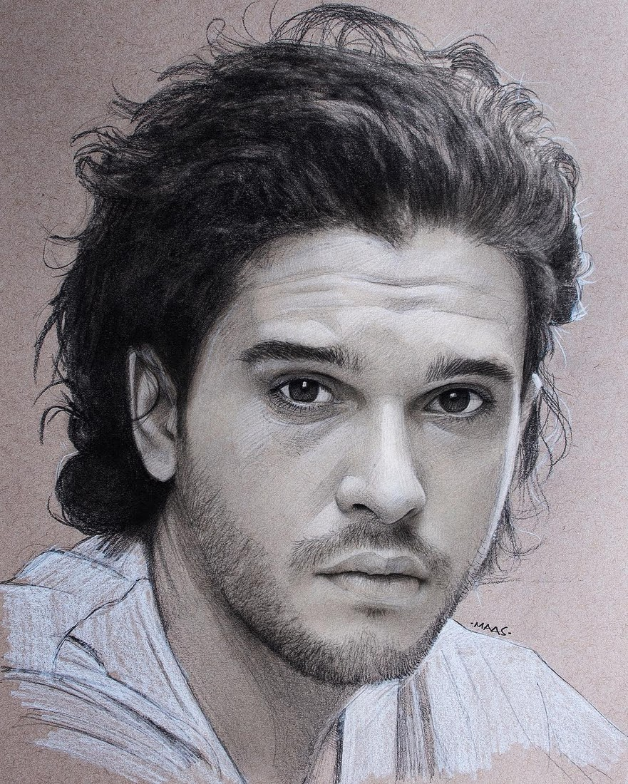02-Kit-Harington-Justin-Maas-Pastel-Charcoal-and-Graphite-Celebrity-Portraits-www-designstack-co