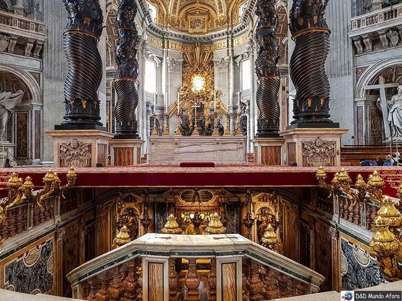 Túmulo de São Pedro na Basílica São Pedro - Diário de Bordo: 3 dias em Roma