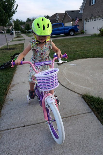 Stella on Her New Bike
