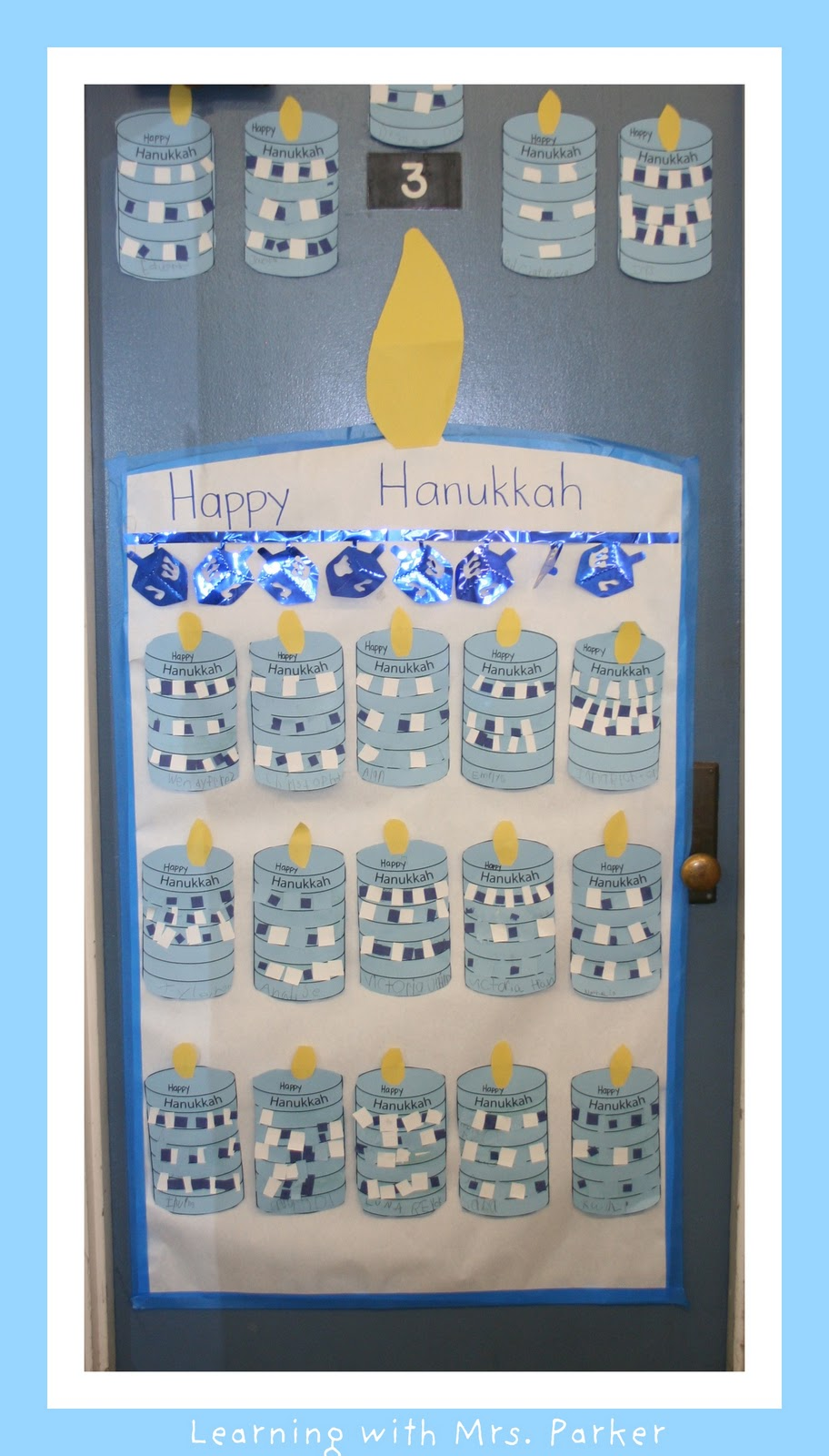 Winter Classroom Decorations ~ Hanukkah idea learning with mrs parker