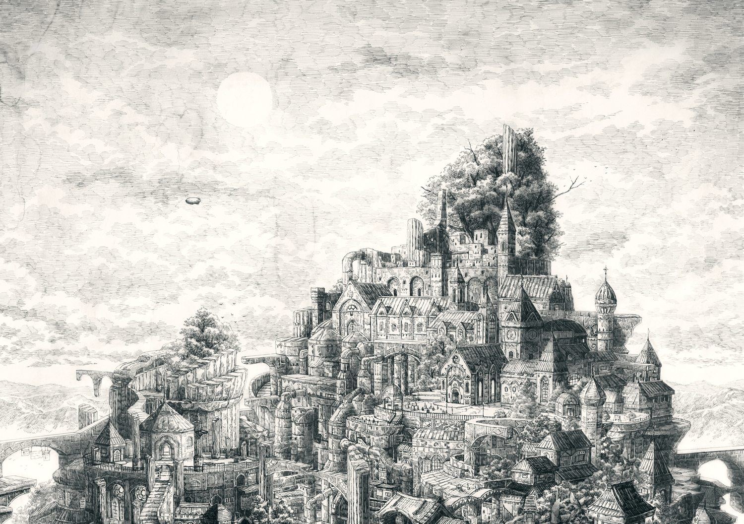 03-Detailed-Scenery-Mita-Mitauzo-実-田-く-ら-Intricate-Japanese-Architectural-Drawings-www-designstack-co