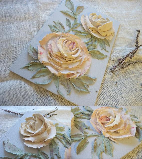 декоративная штукатурка рельефная  цветы окрашивание