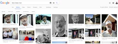 Billeder af Niels Stellan Høm med års mellemrum - viser resultatet fra en Google-søgning