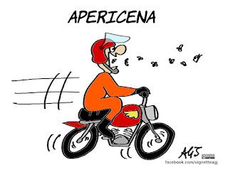 insetti, cibo, novel food, ue, motociclisti, umorismo, vignetta, satira