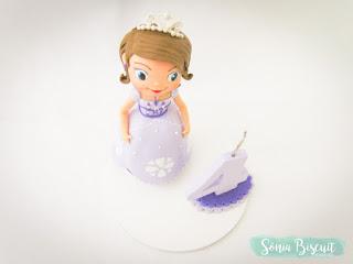 Topo de Bolo, Biscuit, Princesa Sofia, Aniversário, Princesa, Sofia