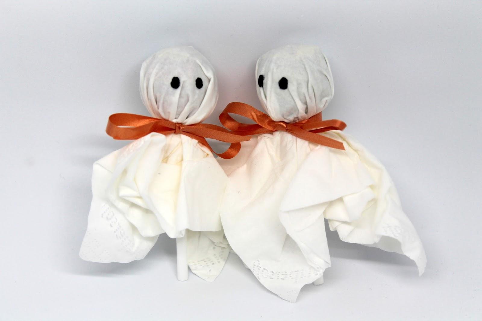 Brilliant Geschenke Basteln Mit Kindern Bastelideen Foto Von Diy, Basteln: Lolly Gespenster In Halloween, Herbst,