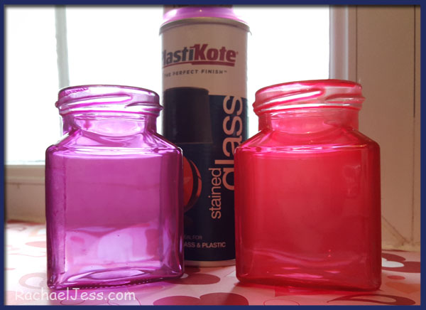 a simple coat of glass paint can transform a jam jar