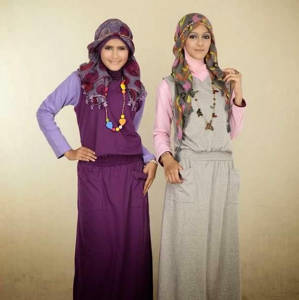 40 Gambar Desain Baju Muslim Remaja Tren 2015