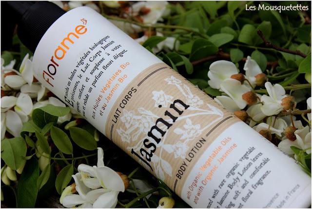 Lait corps bio au jasmin Florame - Blog Les Mousquetettes©