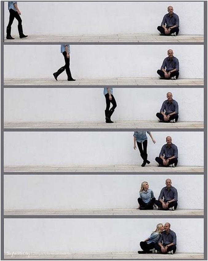 sevgiliyle yaratıcı fotoğraf kareleri
