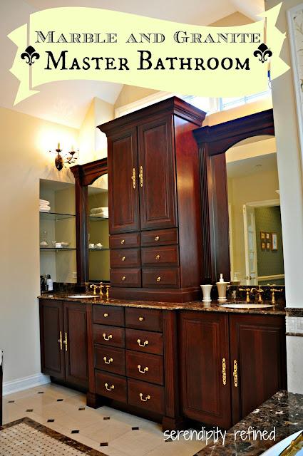 Master Bathroom Reveal: Serendipity Refined Blog: Master Bathroom Reveal