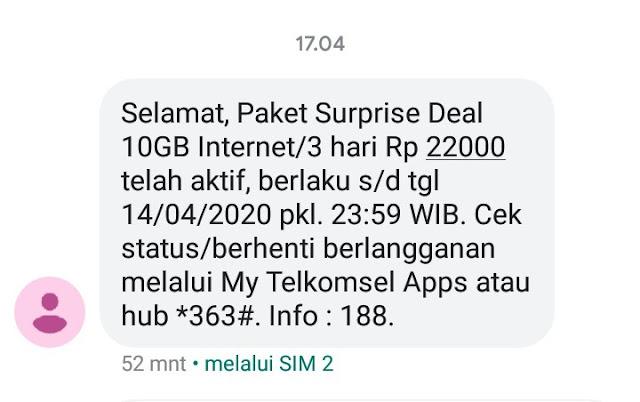 gambar paket murah internet 10 GB dari telkomsel