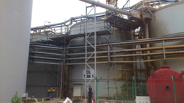 Australian Gold Mining in Raub Pahang - 03 Scaffold Erection