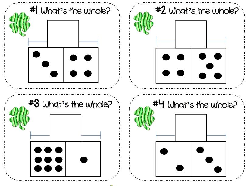 Autism Tank: Part Part Whole Math Work