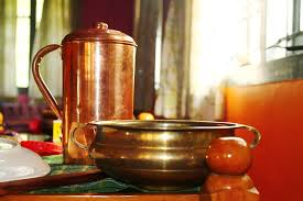 Drinking Water in Copper Pots helps to Get rid of Fat