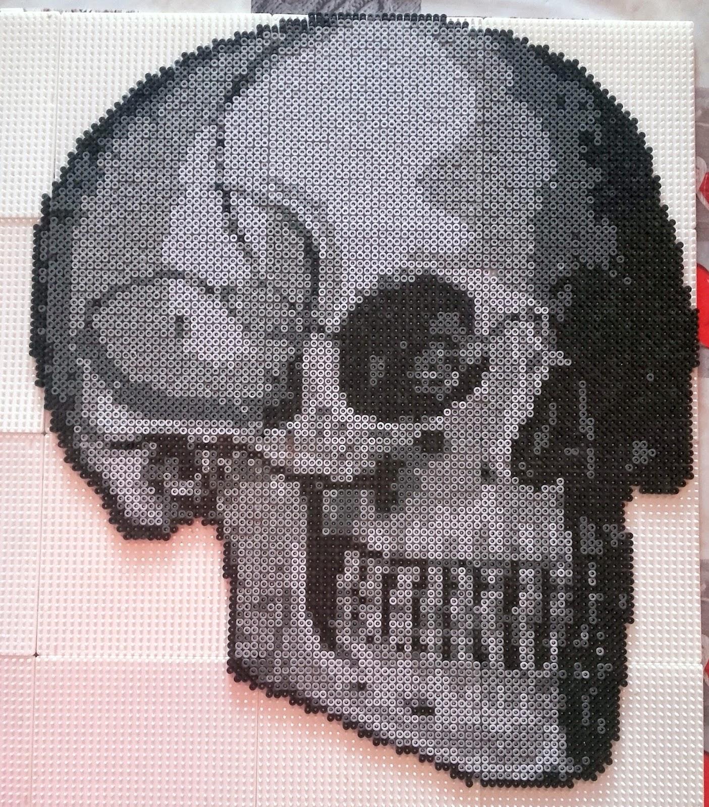 Decokdonat Perles Hama Crâne Noirgris Halloween