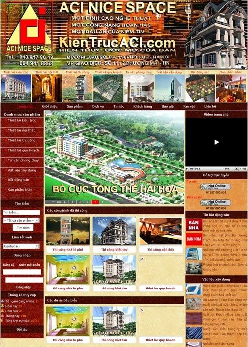 dịch vụ thiết kế website kiến trúc