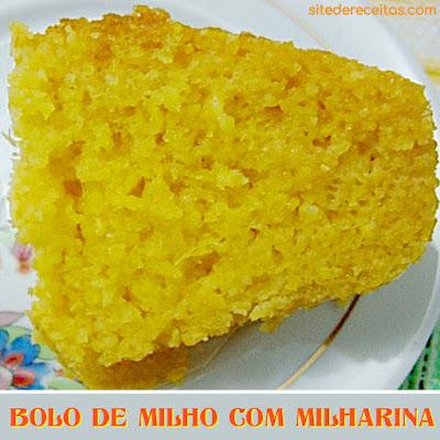 Bolo de milho com milharina