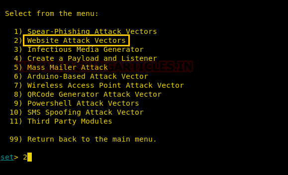 Hack Remote PC using HTA Attack in SET Toolkit