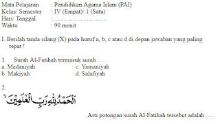 Soal-Ulangan-Ujian-Pendidikan-Agama-Islam-kelas-4-Semester-1-UAS-PAI-kelas-4-SD