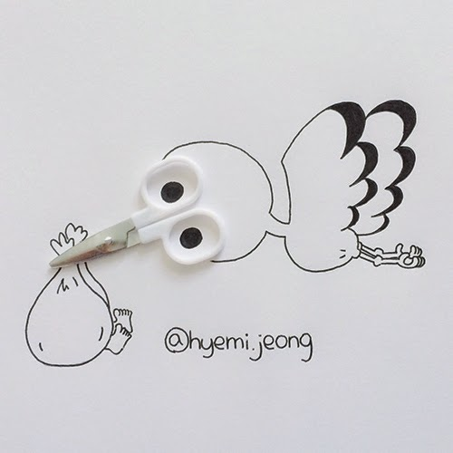 10-Stork-Hyemi-Jeong-Everyday-Things-to-Draw-With-www-designstack-co
