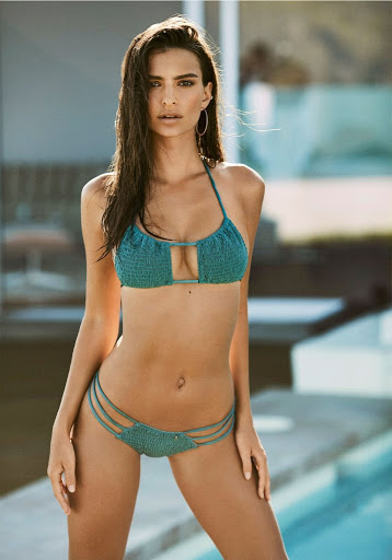 Emily Ratajkowski sexy bikini models photo shoot for Amore & Sorvete swimwear