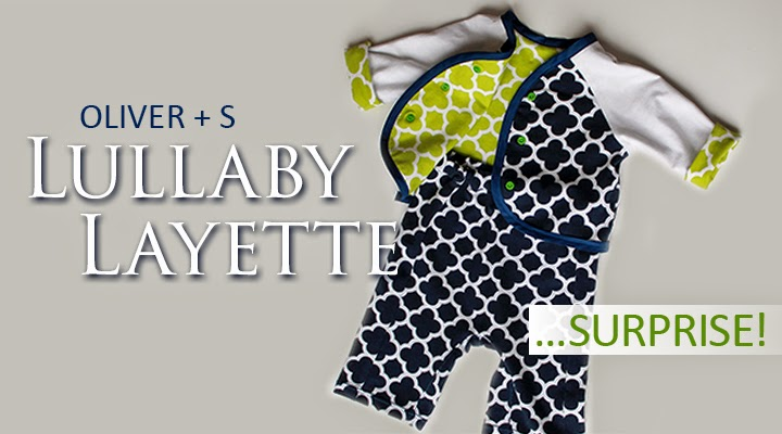 Luallaby Layette from Oliver + S in Riley Blake Designs knit sewn by The Inspired Wren -- got all that?