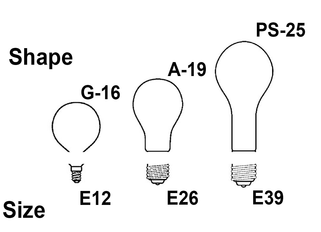 Light Bulb Base Sizes E12