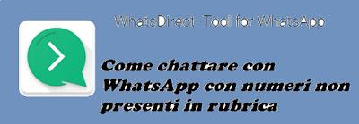 Come chattare con WhatsApp contatti non presenti in rubrica