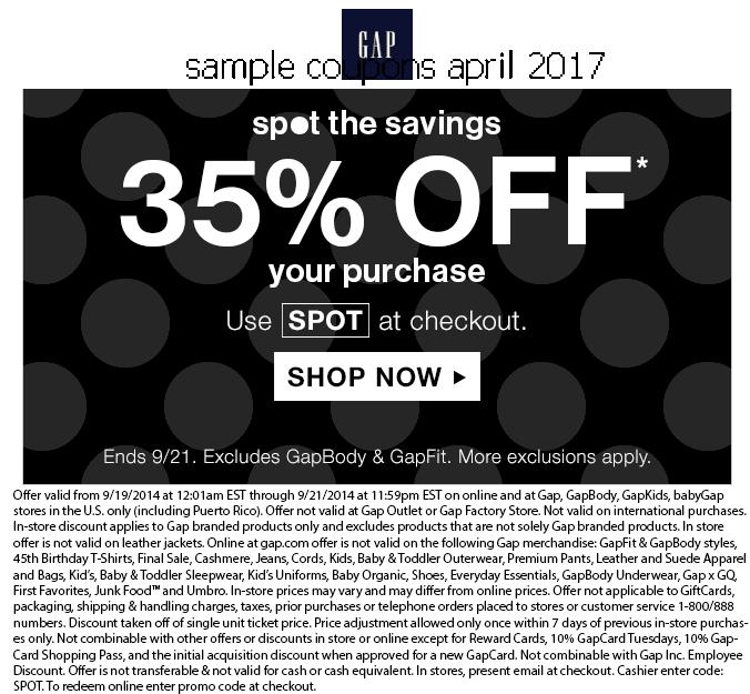 Gap outlet printable coupon april 2018