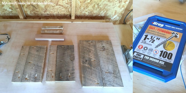cut wood and drill pocket holes to build a DIY Stool