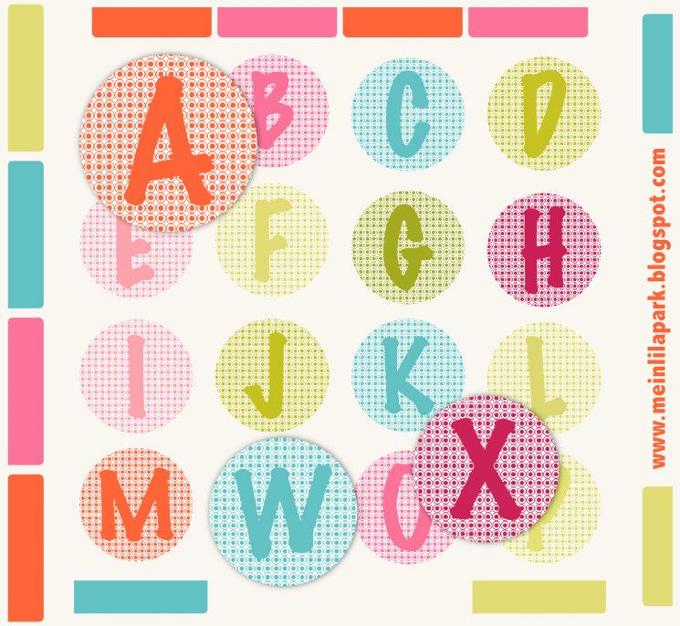 Free printable alphabet letters – ausdruckbare Buchstaben – DIY