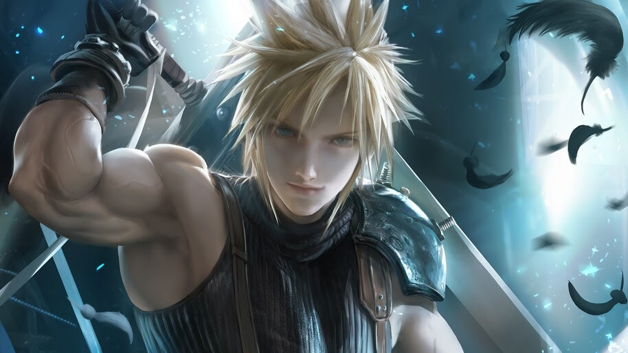 Cloud Strife Sword Final Fantasy 7 Remake 4k Wallpaper 53