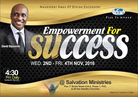 Salvation Ministries, November Days Of Divine Encounter
