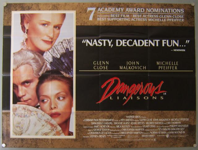 Dangerous Liaisons 1988 movieloversreviews.filminspector.com film poster