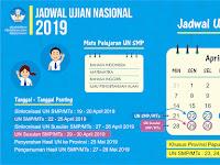 Jadwal Penting Ujian Nasional SMP dan MTs Tahun 2019