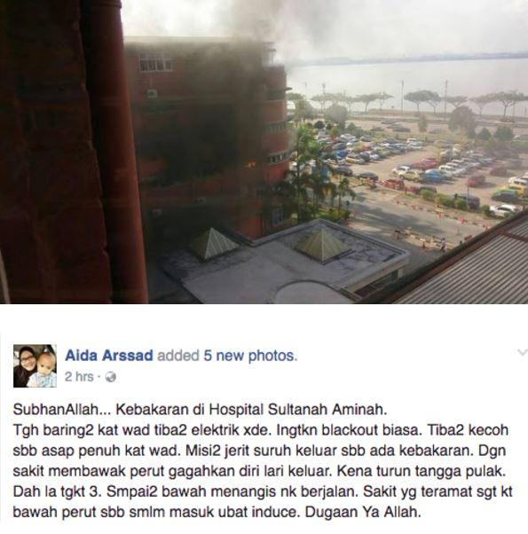 6 Maut Insiden Wad Kecemasan Hospital Terbakar, Ini Sebenarnya Yang Berlaku
