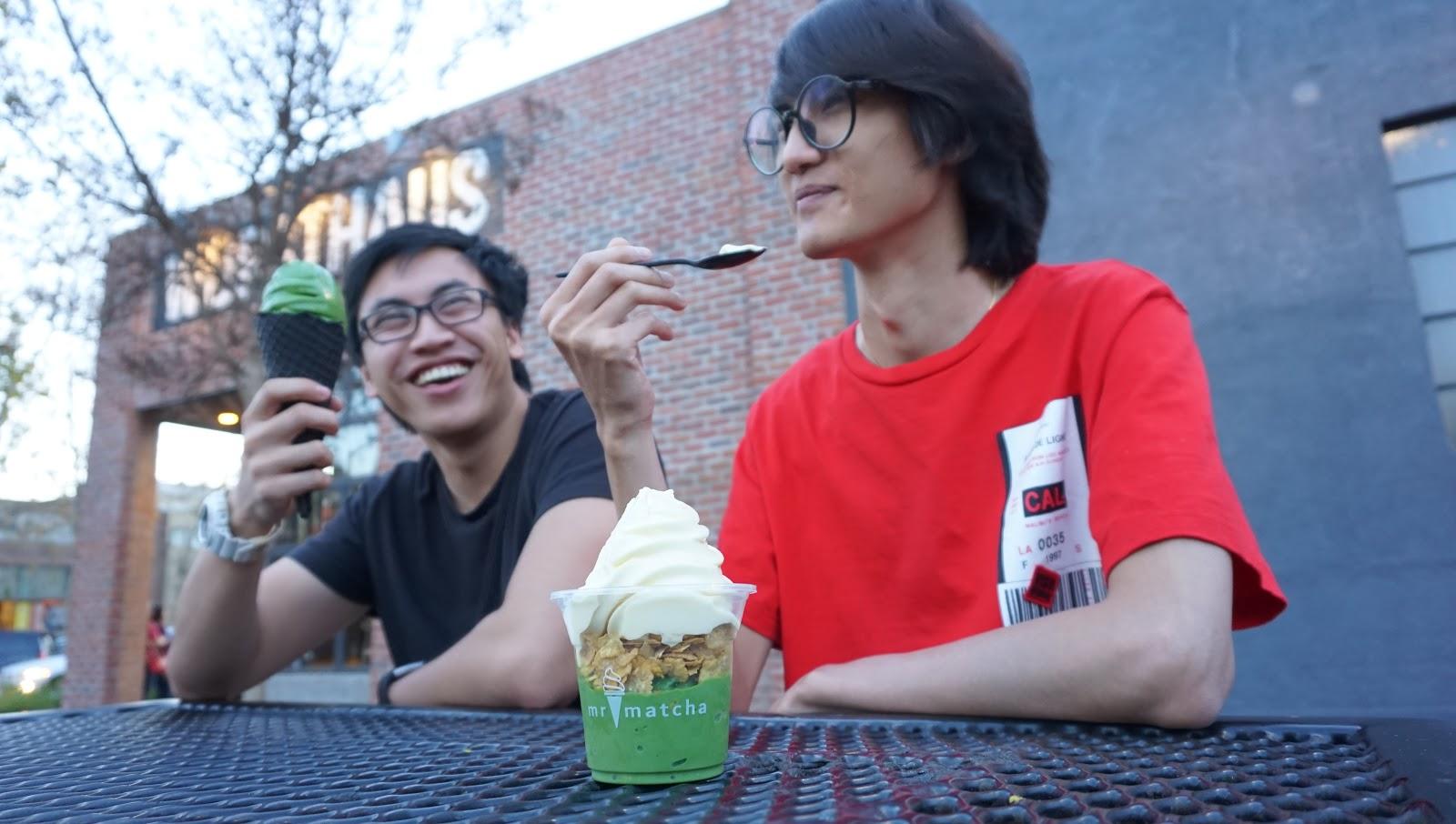 Corn, Black Sesame, and Matcha Desserts! @ Mr. Matcha - Downtown Santa Ana