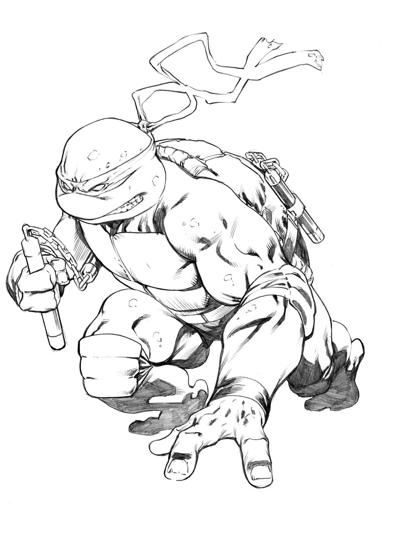 tmnt 2003 michelangelo coloring pages - photo#37