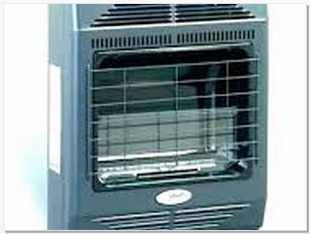 Indoor propane heater with thermostat and blower