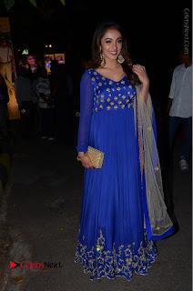 Telugu Actress Tejaswi Madivada Pos in Blue Long Dress at Nanna Nenu Na Boyfriends Audio Launch  0115.JPG
